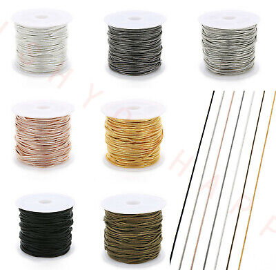 10 Yard/Roll 1.5mm Copper Silver Snake Chain Bulk Necklace Chain For DIY Jewelry