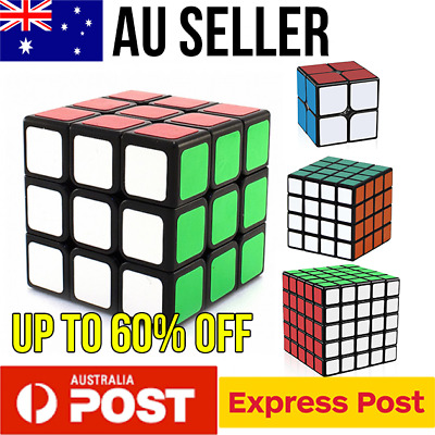 Magic Cube Smooth Fast Speed Cube Puzzle Rubik 2x2 3x3 4x4 5x5 Rubics Rubix cube