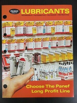 1978 Vintage PANEF QUALITY LUBRICANTS Jobbers SELL SHEET & ADVERT (6 page)