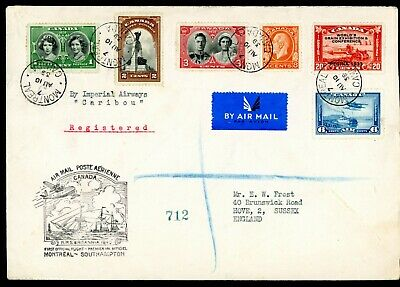 Canada - England  Imperial Airways  'Caribou' Registered Cover    (A714)