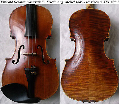 OLD GERMAN VIOLIN F. A. MEISEL 1885 - see video ANTIQUE MASTER バイオリン скрипка 926