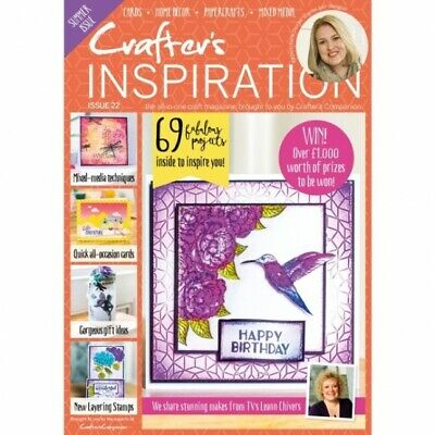 Crafters Inspiration Magazine Issue 22 With Free £50 Craft Kit Die Stamps  2019