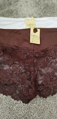 Ladies French Knickers Plus Sizes 14-16 16-18 & 18-20 White & Brown Only