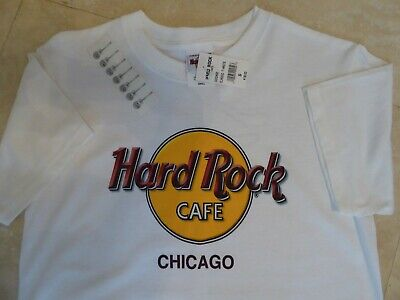 6fe20bc7 Vintage Hard Rock Cafe T Shirt CHICAGO White Sz S New with Tags Collectible
