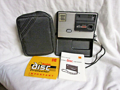 VINTAGE 1980s KODAK DISC 4100 CAMERA WITH MANUAL & CASE