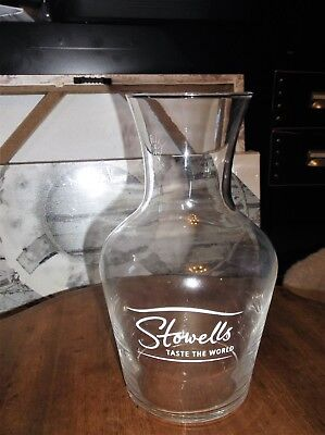 Glass Carafe Wine Water Decanter Stowells 1 Litre