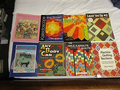 Lot of 10+ Quilting Books-Drunkard Kaleidoscope Bargello Quilt Design