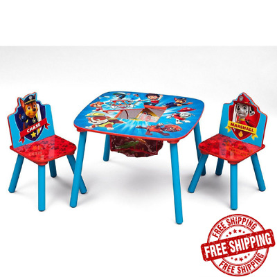 Paw Patrol Table Chair Set Kids Toddler Activity Eat Wooden Play Room Gift New