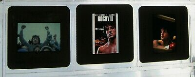 Original ROCKY II VHS 35mm Press Kit Slides SYLVESTER STALLONE