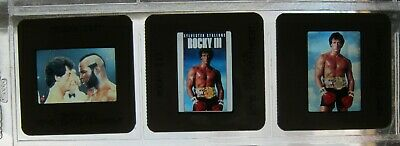 Original ROCKY III VHS 35mm Press Kit Slides SYLVESTER STALLONE MR. T