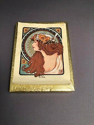 Art Nouveau style  Ex Libris Bookplates Antioch Bookplate Company Female figure