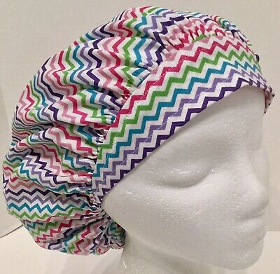 2d0bed9ed7346 Chevron Size Small Adjustable Medical Bouffant Scrub Cap Surgery Hat