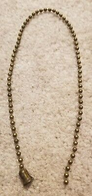 "True Vintage Bead Chain Table Lamp or Ceiling Light Pull Chain & Bell  12""+  #3"