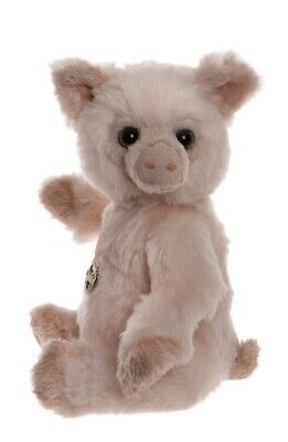 Penchant jointed plush pig / piglet teddy bear - Charlie Bears - CB185174