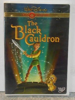 The Black Cauldron (DVD 2000 Gold Collection) RARE BRAND NEW W BUENA STAMP MINT
