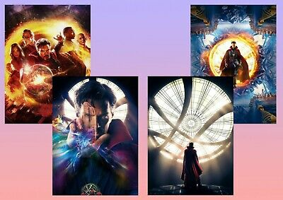 Dr, Doctor Strange: Benedict Cumberbatch  A5 A4 A3 Textless Movie DVD Posters
