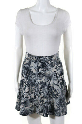 610a8fa088 BCBG MAX AZRIA Womens Mini Skirt White Blue Textured Knit Size Extra ...