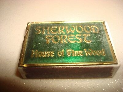 Rare Vintage Match Box Matches Sherwood Forest House Of Fine Wood Detroit MI USA