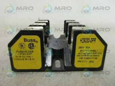 Buss H25030-3Pr Fuseholder *New No Box*