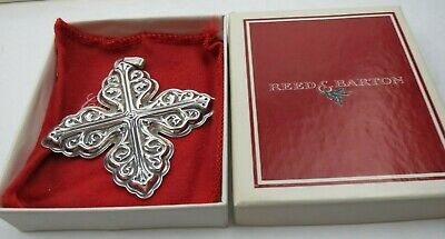 1978 REED & BARTON Limited .925 STERLING SILVER Christmas Cross Pouch and Box