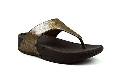 2f568dd86 NEW FitFlop Lulu Shimmer Suede Thong Sandal