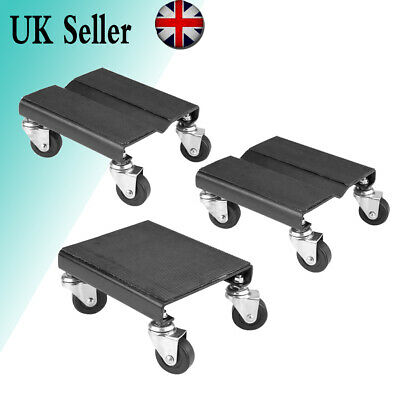 3Pcs Tire Car Wheel Dolly Auto Repair Jack Moving Dollies Set 1500lbs Capcity