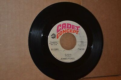 Jeannie Piersol: Gladys & With Your Love; Cadet Concept Vg++ Northern Soul Pr 45