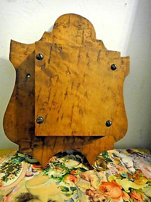 Antique TIGER MAPLE/ BIRDS EYE folk art handmade vintage BOX hanging primitive