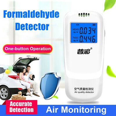 TVOC HCHO Formaldehyde Detector Air Quality Monitor LCD Screen Gas Tester
