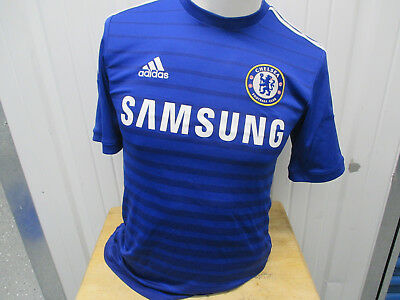 free shipping 2abdf 1b462 ADIDAS CHELSEA F.C. Diego Costa #19 Sewn Small Home Jersey 2014-2015 Kit  Preowne