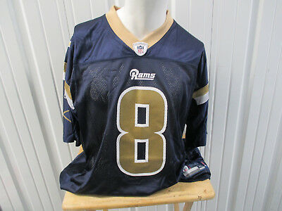 2b9330f2 SAM BRADFORD RAMS #8 Navy Blue Reebok Team Apparel NFL Football ...