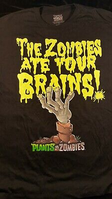 Zombies Ate Your Brains Mens XL Black t shirt Plants vs Zombies
