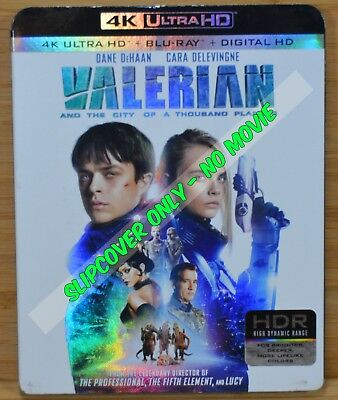 VALERIAN 4K Blu-ray Slipcover (COVER ONLY-NO MOVIE DISC)