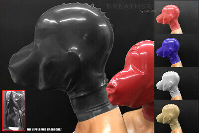 ----- LATEXTIL ----- +BREATHER PLUS ZIP+ - Latexmaske - breath play mask - NEW