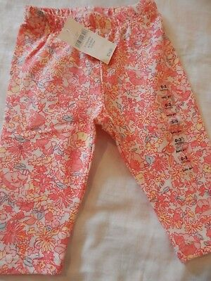 NWT Baby Gap Girls 0-3 Months Floral leggings SWEET AND ADORABLE