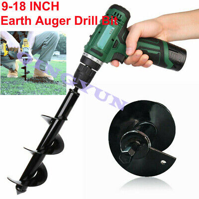 9-18 inch Yard Earth Auger Drill Bit Fence Borer For Garden Planting Hole Digger