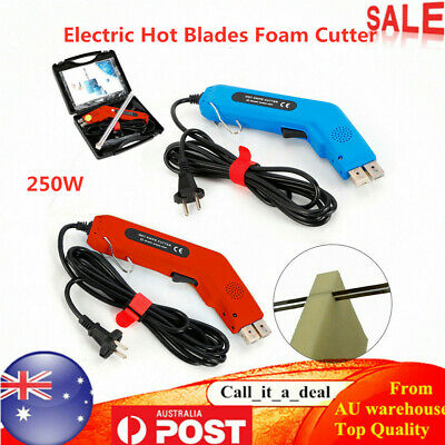 250W Electric Hot Blade Foam Cutter Hot Wire Foam Sponge Cutting Tool+ Carry Box