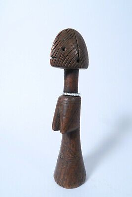 Mossi Puppe Holz bespielt AN37 Used Mossi Doll Biga Burkina Faso Pouppee Afrozip