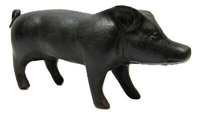 Fun Small Miniature Rustic Primitive Cast Iron Piglet Piggy Pig