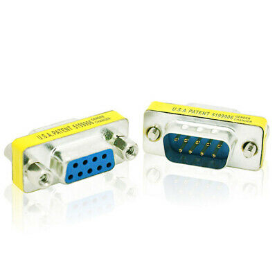 9PIN Male to Female Gender Changer Converter DB9 Serial Adapter RS232 Connector