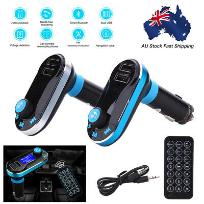 USB Car LCD SD FM Transmitter MP3 Player Magnet Handsfree Wireless Bluetooth AU