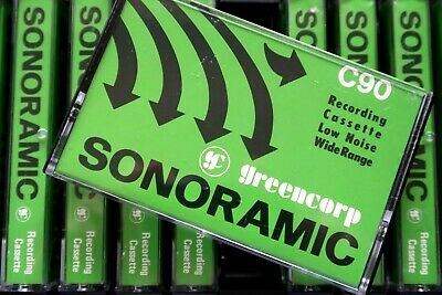 Greencorp Sonoramic C90 Normal Position Type I Blank Audio Cassette - Aus