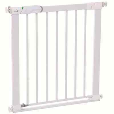 Safety 1st Safety Gate Flat Step 73cm White Metal Baby Pet Stair Barrier Guard