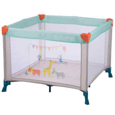 Safety 1st Baby Travel Box Circus Light Blue Toddler Play Cot Bed Playpen