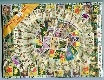 Another packet of 100 different Malaysia and Singapore stamps.