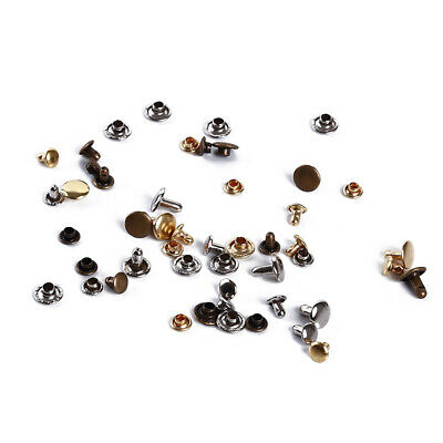 Leather Craft Rivets Double Cap Rivet Tubular Metal Studs with Fixing Tool Z