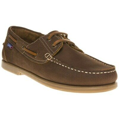 New Mens Chatham Marine Tan Brown The Bow Nubuck Shoes Boat Lace Up