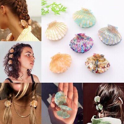 Fashion Women Girls Shell Claw Acrylic Hair Clip Claws Hairpin Beach Accessories