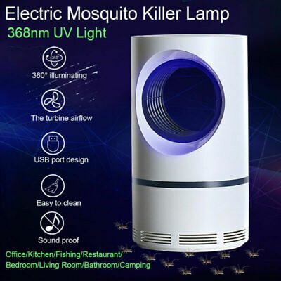 USB Electric Mosquito Killer Zapper LED Light Home Room Lamp Fly Insect Bug Trap