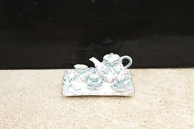 Antique Vintage Miniature 7pc Tea Set